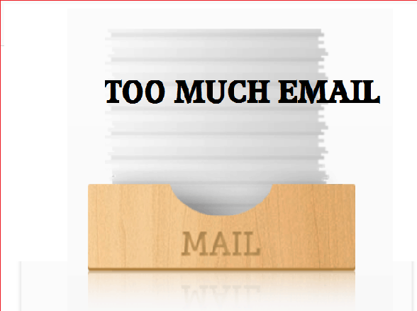 too much email